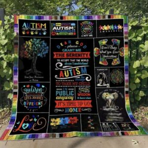 Autism Don't Judge What You Don't Understand Quilt Blanket Great Customized Blanket Gifts For Birthday Christmas Thanksgiving