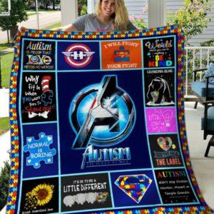 Autism 1 Quilt Blanket