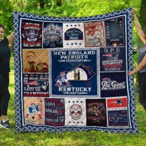 New England Patriots Kentucky Quilt Blanket Fan Made