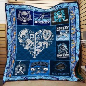 Ice Hockey Equipment Quilt Blanket Great Customized Gifts For Birthday Christmas Thanksgiving Perfect Gifts For Ice Hockey Lover