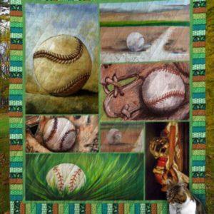 Baseball V8 Quilt Blanket