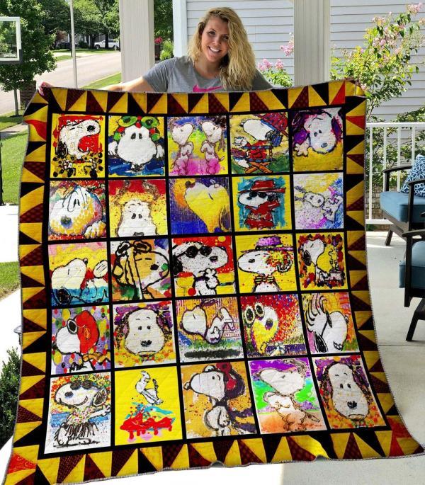 Snoopy Ver1 Quilt Blanket