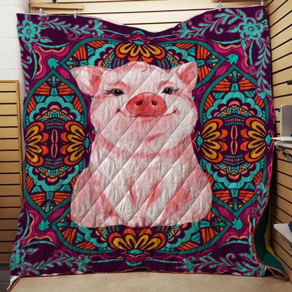 Farm Pig Life Quilt Blanket Doveprints
