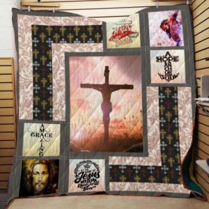 Jesus Is My Savior Quilt Blanket Great Customized Gifts For Birthday Christmas Thanksgiving Perfect Gifts For Jesus Lover