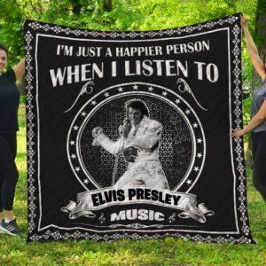 Elvis Presley Music Quilt Blanket Fan Made