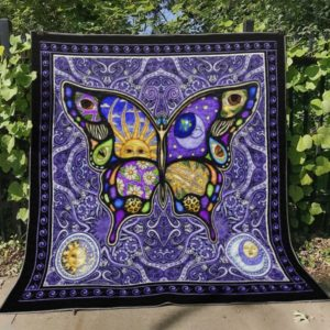 Butterfly Ver5 Quilt Blanket