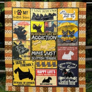 Home Is Where My Scottie Is Quilt Blanket Great Customized Blanket Gifts For Birthday Christmas Thanksgiving