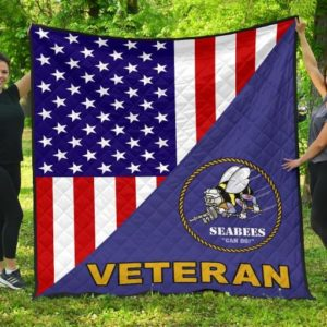 Us. Seabee Veteran Quilt Blanket Great Customized Blanket Gifts For Birthday Christmas Thanksgiving