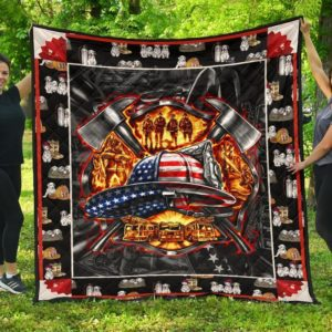 Firefighter Equipment Quilt Blanket Great Customized Gifts For Birthday Christmas Thanksgiving Perfect Gifts For Firefighter