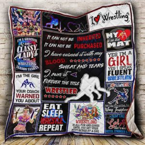 Wrestling Girl It Can Not Be Purchased Quilt Blanket Great Customized Gifts For Birthday Christmas Thanksgiving Perfect Gifts For Wrestling Lover