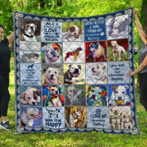 American Bulldog Quilt Blanket