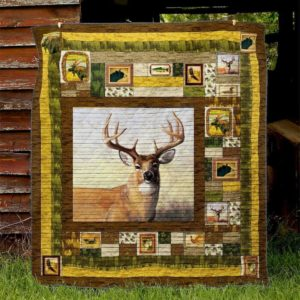 Deer Camo Pattern Quilt Blanket Great Customized Gifts For Birthday Christmas Thanksgiving Perfect Gifts For Deer Lover
