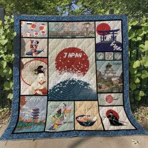 Japan Osaka Kyoto Quilt Blanket Great Customized Gifts For Birthday Christmas Thanksgiving Perfect Gifts For Japan Lover