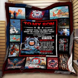 Personalized U.S. Coast Guard To My Son Quilt Blanket I Can Promise To Love You For The Rest Of Mine Great Customized Blanket Gifts For Birthday Christmas Thanksgiving