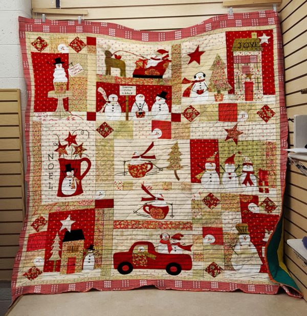 Snowman Christmas Activities Quilt Blanket Great Customized Blanket Gifts For Birthday Christmas Thanksgiving