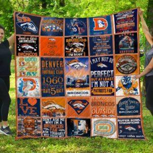 Nfl Denver Broncos Quilt Blanket