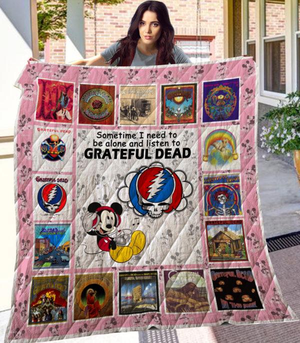 Mk Grateful Dead Quilt Blanket