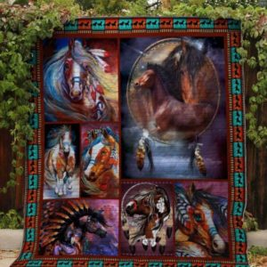 The Dreamcatcher Horse Quilt Blanket Great Customized Blanket Gifts For Birthday Christmas Thanksgiving