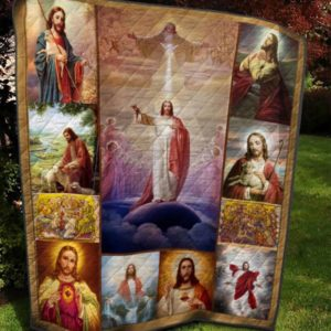 Jesus Christ Painting Quilt Blanket Great Customized Gifts For Birthday Christmas Thanksgiving Perfect Gifts For Jesus Lover
