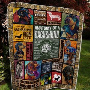 Dachshund Dog Quilt Blanket