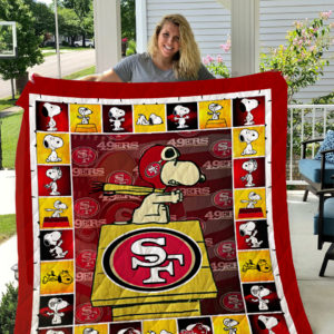 San Francisco 49ers Snoopy Quilt Blanket