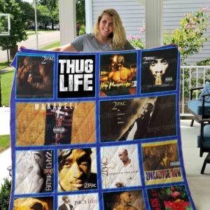 Tupac Shakur Quilt Blanket 01
