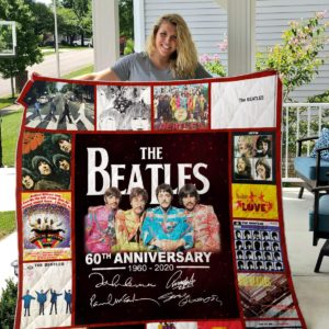 The Beatles 60th Quilt Blanket