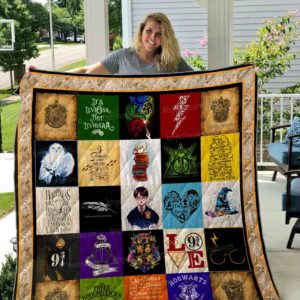 Harry Potter 30 Pictures Quilt Blanket 01