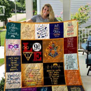 Harry Potter 4 Center Pictures Quilt Blanket 01