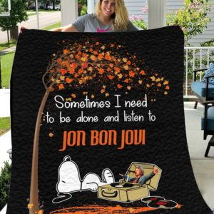 Snoopy And Jon Bon Jovi Quilt Blanket