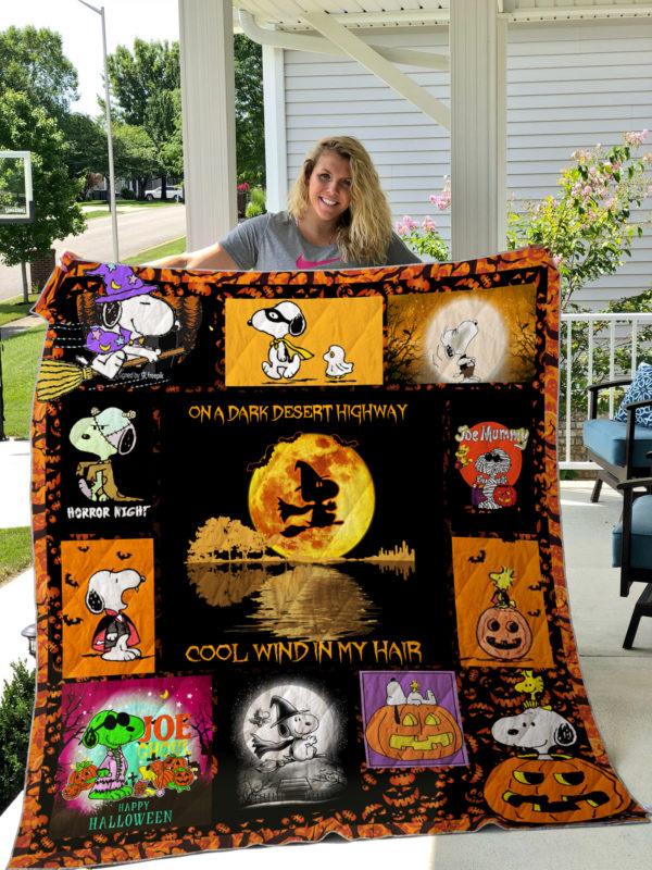 Snoopy Halloween Quilt Blanket