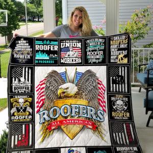 Union Roofers Quilt-Blanket