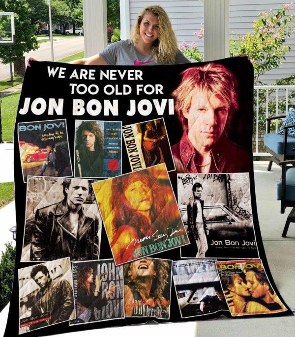 Jon Bon Jovi Vr1 New Quilt Blanket