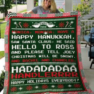 Happy Hanukkah-Friends Quilt-Blanket