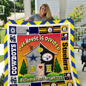 Pittsburgh Steelers And Dallas Cowboys Quilt Blanket