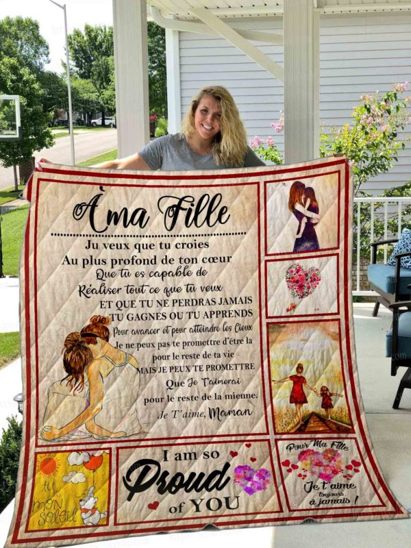 A Ma Fille Quilt Blanket 01