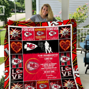 Kansas City Chiefs – To My Granddaughter – Love Grandpa Quilt Blanket