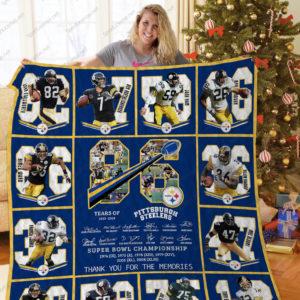Pittsburgh Steelers Quilt Blanket Ver 17