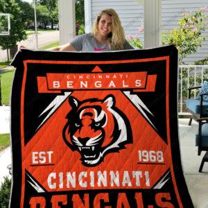 Cincinnati Bengals Quilt Blanket 03