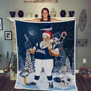 Bl-Dc Santa Claus Quilt Blanket