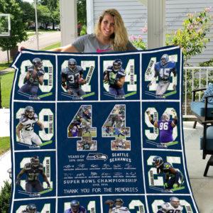 Seattle Seahawks Quilt Blanket Ver 06