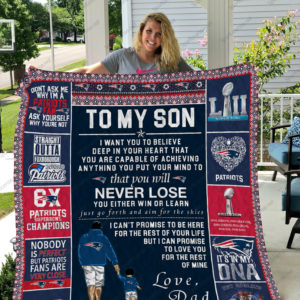 New England Patriots - To My Son Quilt Blanket