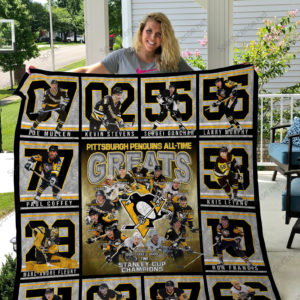 Pittsburgh Penguins All Time Great Quilt Blanket Great Customized Blanket Gifts For Birthday Christmas Thanksgiving