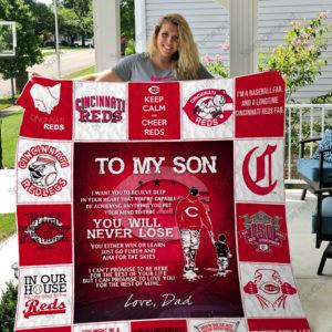 H – Cincinnati Reds D Quilt Blanket