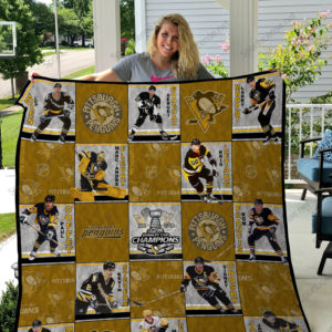 Pittsburgh Penguins Players Name Quilt Blanket Great Customized Blanket Gifts For Birthday Christmas Thanksgiving