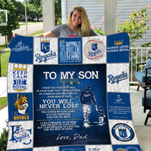H -Kansas City Royals D Quilt Blanket