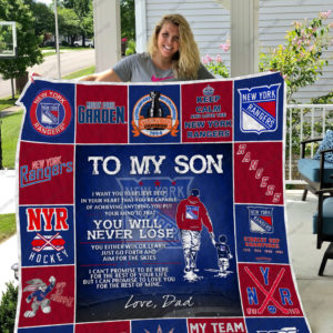 H – New York Rangers D Quilt Blanket
