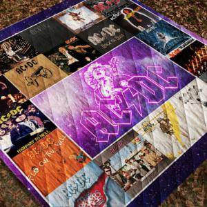 Ac/Dc Lp Albums Quilt Blanket