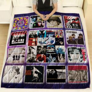 U2 Albums Quilt Blanket