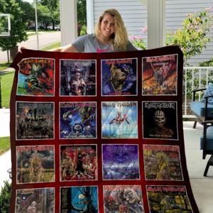 Iron Maiden Albums Quilt Blanket